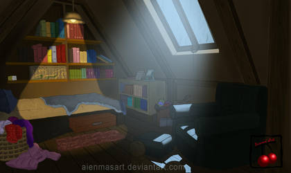 Attic room by AienmasArt