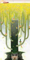 Summer of gentle bird by black6589