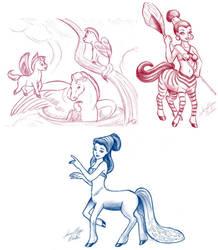 Fantasia Sketches by claidis