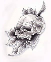 Skull Leaf Speedpaint Video! by Halasaar01