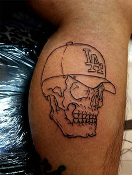 Today's Work Los Angeles Skull Tattoo!! by Halasaar01