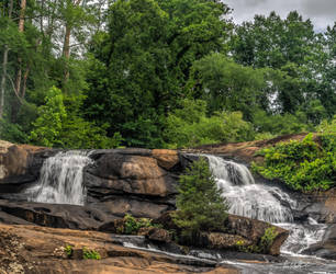 High Falls State Park Waterfalls 2 by Natures-Studio
