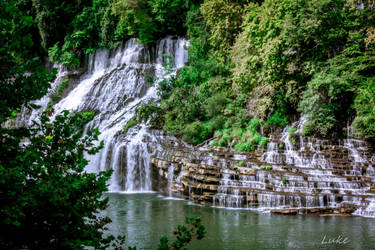 Rock Island State Park: Twin Falls Side View by Natures-Studio