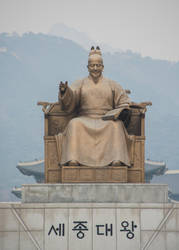 King Sejong Statue by Natures-Studio