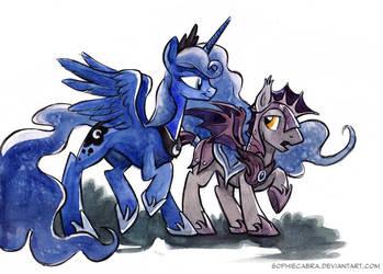 Sketch - Luna's Guard by SpainFischer