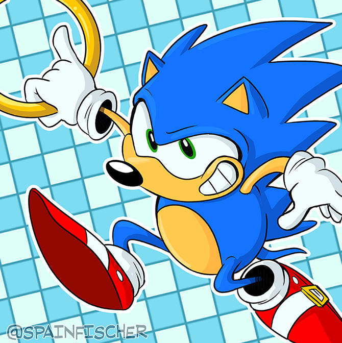 Fan Favorites Series #41 - Sonic the Hedgehog by SpainFischer