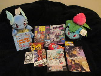 Cool things i got from the con by Cartoon-boom