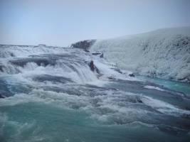 Unfrozen waterfalls by feainne-stock