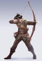 C: Gander Ravenholm, Half-elf Ranger by bchart