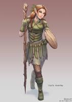 Yesta Fenritas, Elven Druid by bchart