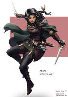 C: Trista, Human Rogue by bchart