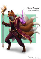 C: Taka'shi Tomoshiba, Kitsune Sorcerer by bchart