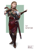 C: Ily, Half-elf Bard by bchart