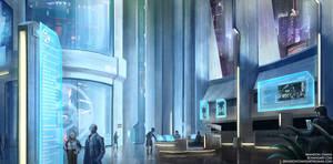 Cyberpunk - Megacorp Lobby by bchart