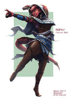 Ardency, Tiefling Dancer by bchart
