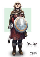 C: Dora Kolt, Human Life Cleric of Eldath by bchart