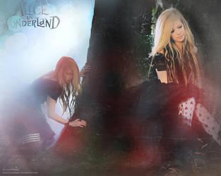 Avril in Wonderland-Wallpaper by lovedayss