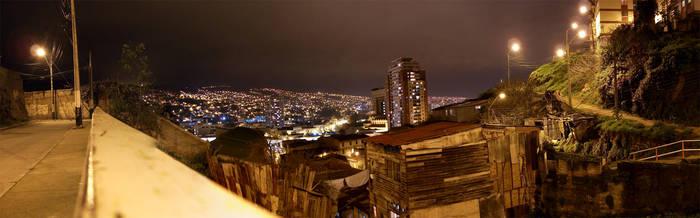Valparaiso at Night by p--wack