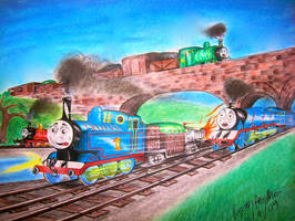 Thomas and the Jet Engine. by RPM1000