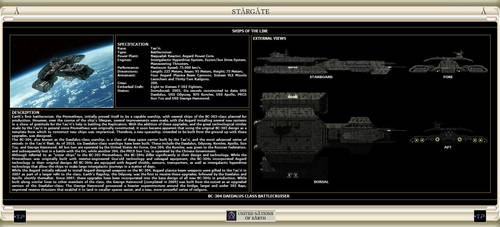BC-304 Daedalus Class Battlecruiser by IanKeenanArts
