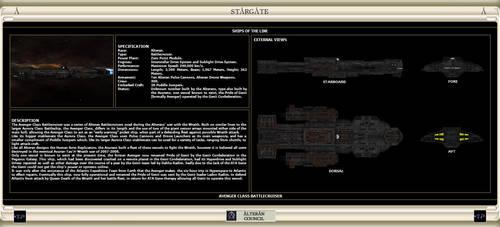 Avenger Class Battlecruiser by IanKeenanArts