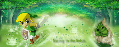 Toon Link Racing to the Finish. by Racso64