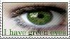 Green Eyes Stamp by ehrehrere