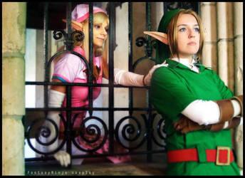Link and Zelda by FantasyNinja