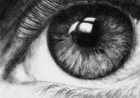 Close-Up Eye by Katrix