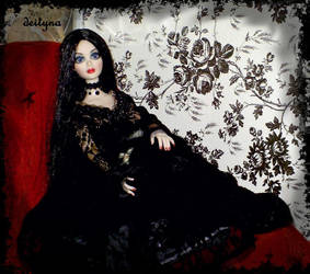 Now and Forever Evangeline with Krystal the cat by deityna