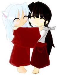 inuyasha and kikyou by orenji-no-ame