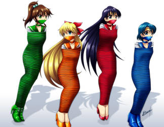Sailor Moon girls 02 by Karosu-Maker