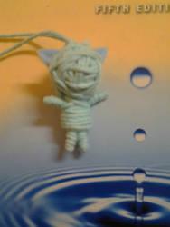 Blue Neko String Doll by Hanyuu58