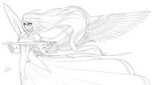 Goddess - Lineart by Dea-89