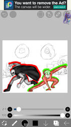 Working on the background for a collab by Bloody7851