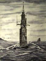 Eddystone Lighthouse, 1700 by John-Tansey