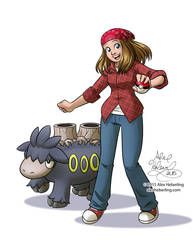 Camerupt and Trainer Commission by alex-heberling