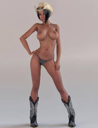 Pin up CowGirl by ChromeGorilla