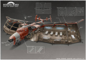 Rescue team aircraft hospital concept by martydesign