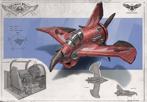Redesign: Crimson Skies (Sparrow light fighter) by martydesign