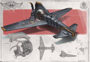 Redesign: Crimson Skies (Mosquito light fighter) by martydesign
