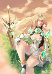 Xenoblade 2 First Anniversary by Puzzled-Art