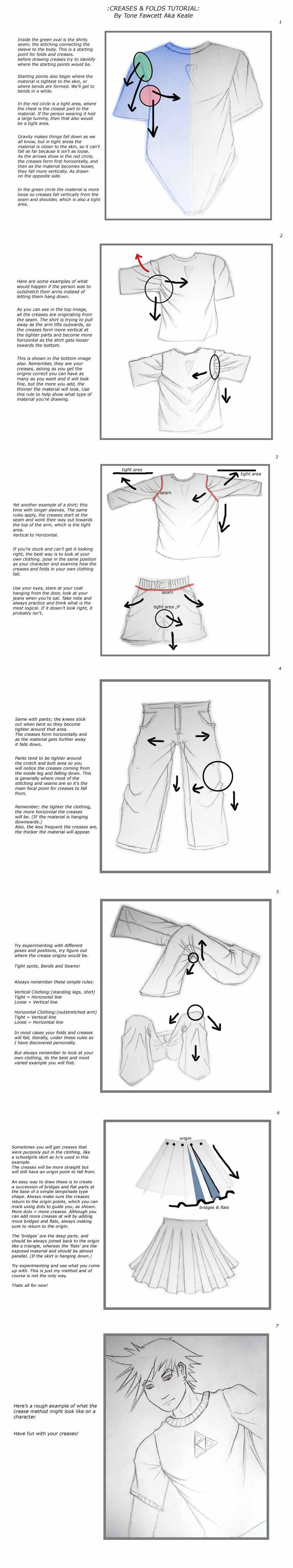 Tutorial : Creases and Folds by KealeS