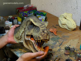 T Rex 1/8 scale bust Size. by GalileoN