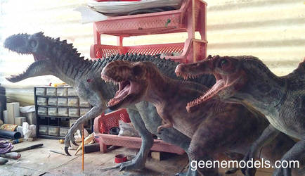 Indy , T rex and Spino by GalileoN