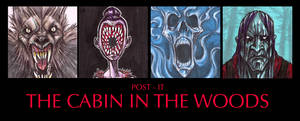 POST IT THE CABIN IN THE WOODS by QuinteroART