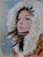 Winter (color pencil) by MrEyeCandy66