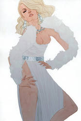 Emma Frost by kevinwada
