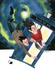 Doctor Who and Clara Oswald by kevinwada
