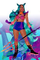 Azealia Banks aka Yung Rapunxel by kevinwada